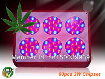 2pcs/lot Fedex/DHL Free Apollo6 90*3W indoor medical grow led light with dropship 3 years warranty for Hydroponics plants growth