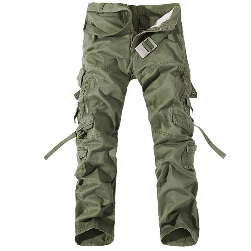 Men Military Cargo Outdoor Sports Pants Trousers Multi Pockets decoration Outdoors Casual Long Pant Large Size 28-40 Trousers
