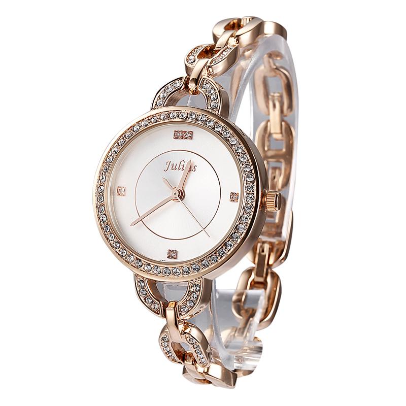 Top Womens Lady Wrist Watch Julius Quartz Hours New Fashion Dress Chain Bracelet Rhinestone Girl Christmas Birthday Gift 806<br><br>Aliexpress