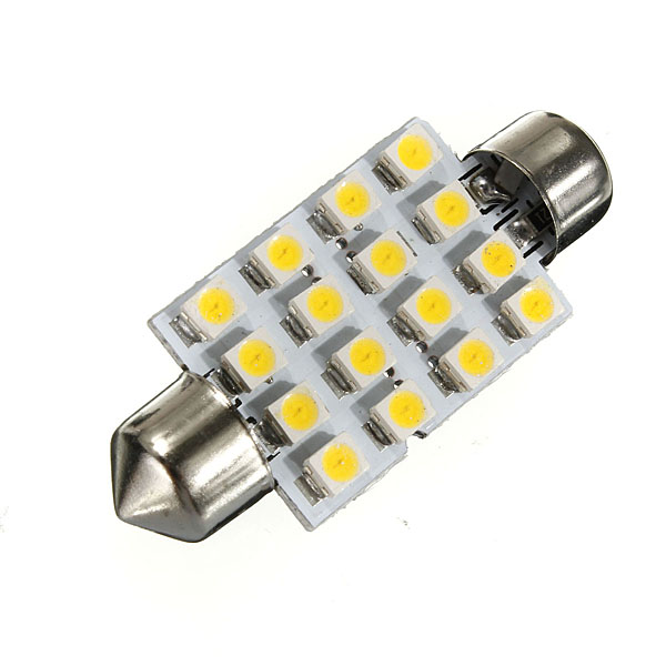 Top Quality 42mm 16 LED 3528 1210 SMD Warm White Car Auto Interior Dome Festoon Lights Reading Map Lamp Bulb DC12V(China (Mainland))