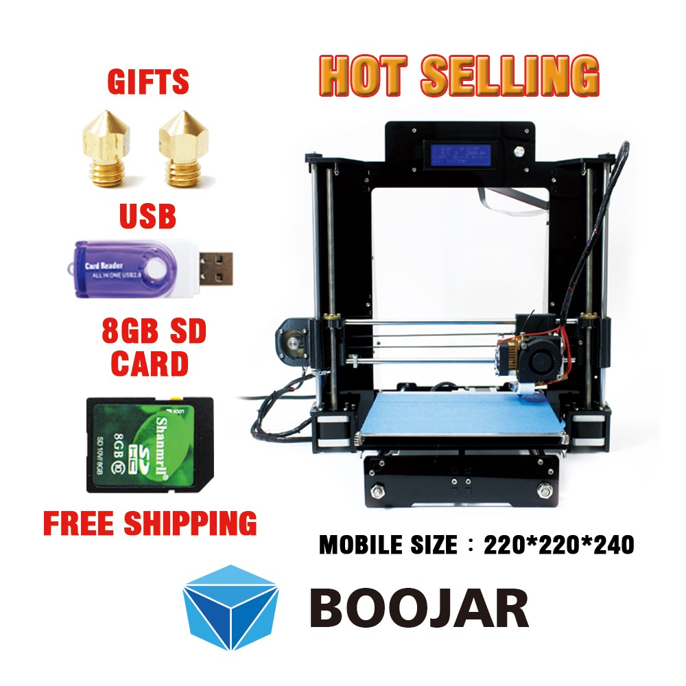 Desktop 3d printer DIY Prusa i3 Black Full Acrylic and metal printer 3d New Upgraded Quality for free shipping(China (Mainland))