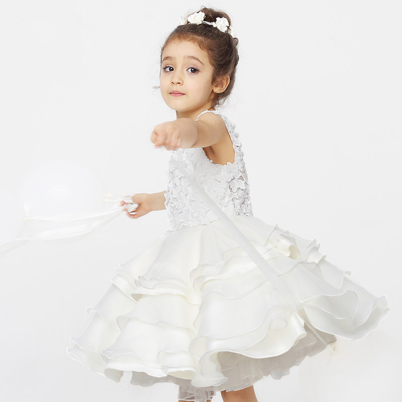 2016 New Arrival Flower Girls Dress Summer Princess Wedding Party Kids Costume Baby Girls Clothes High Quality Children Clothing<br><br>Aliexpress