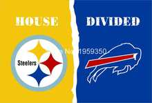 Buy Pittsburgh Steelers vs Buffalo Bills House Divided Rivalry Flag 90x150cm metal grommets 40035 for $4.76 in AliExpress store