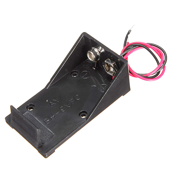 SZS Hot Single Wired Lead Battery Holder Case Box 9V 6LR61 x1 Model/DIY/Toy/RC UK(China (Mainland))