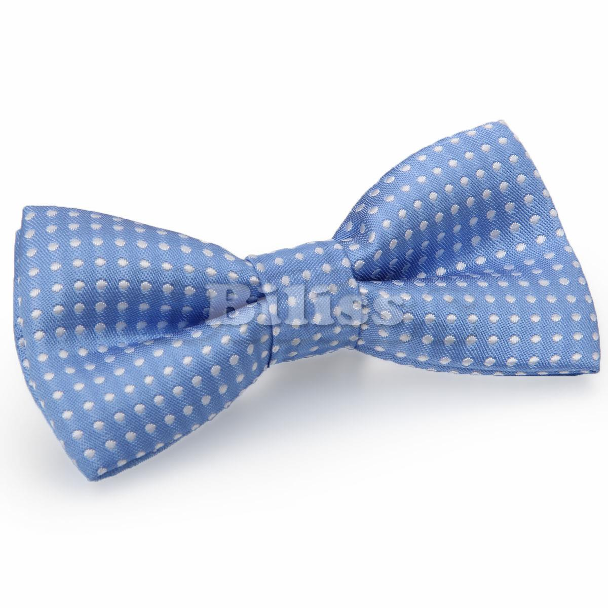 Cute Polyester Polka Dots Kids Boys Bow Ties for Wedding Children Ceremony Lovely Tie Boy Tuxedo Necktie Bow Multi-Colors(China (Mainland))