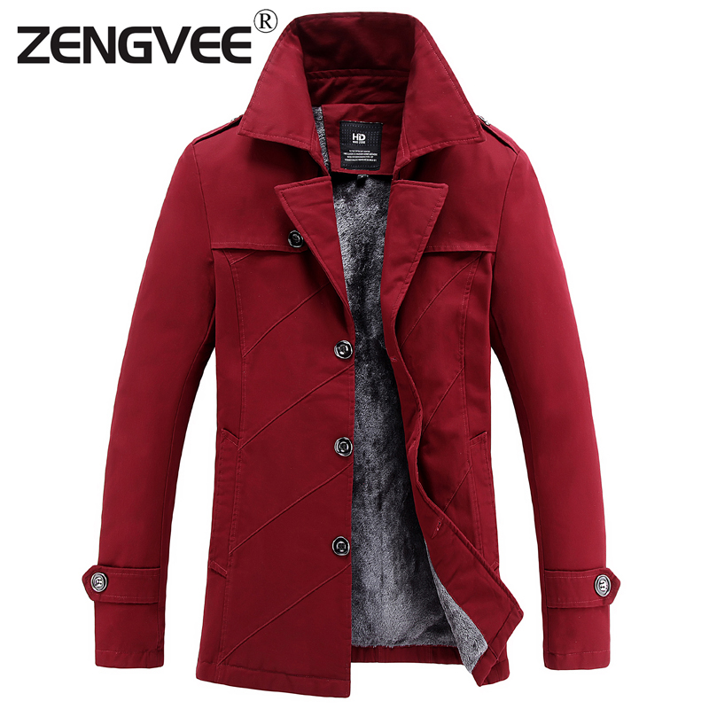 New Arrival Men's Cotton Trench Solid Fashion Jacket Thicken Winter Long Sleeve Coat Casual Slim Fit Parka-Free Shipping(China (Mainland))