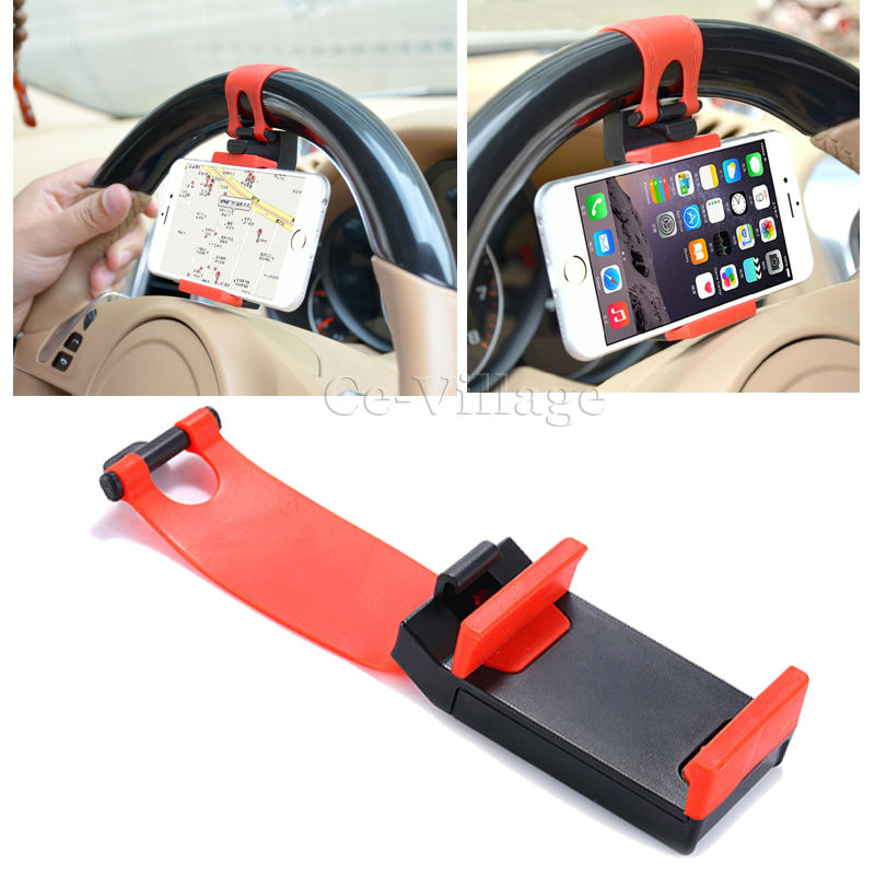 Car Steering Wheel Bracket Holder Rubber Band for iPhone 7 Plus 7 6S Plus 6S 6 5S 5C 5 4 4S SE Phone Trestle Car Mount Holder(China (Mainland))
