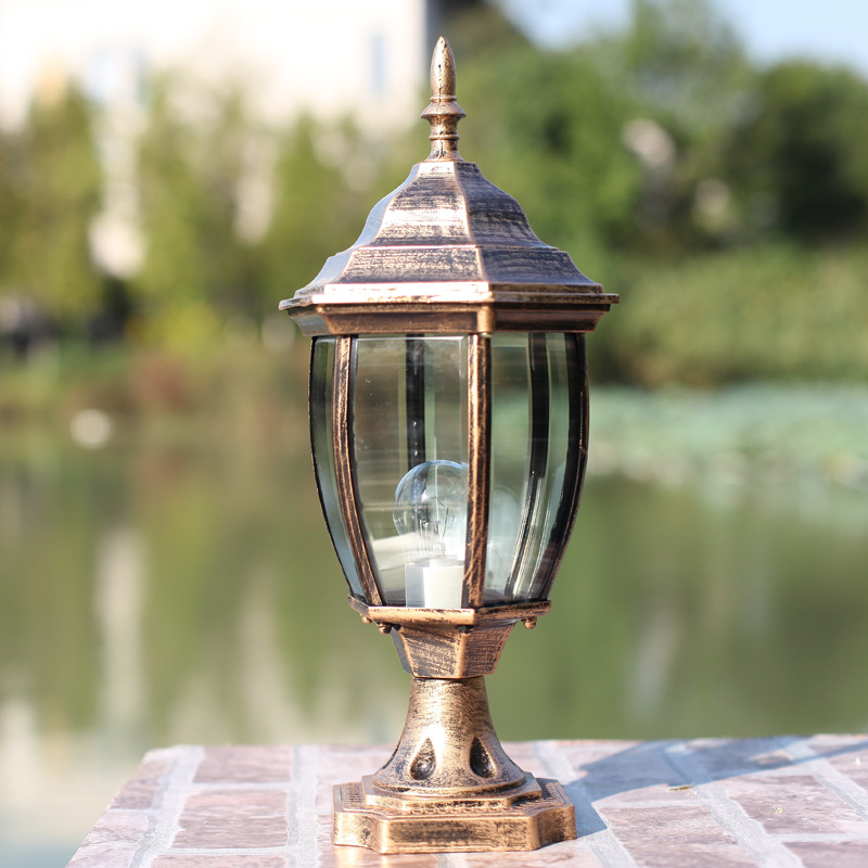 Wall light lamp post column head lawn fashion outdoor waterproof lights wall landscape - The Lights of Ten Thousand Homes store