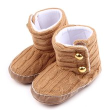 Buy 2017 Winter Warm Style Baby Boys Girls Comfortable Toddler Shoes Kids Solid Colour Fashion Shoe F4 for $3.50 in AliExpress store