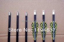 Free shipping LOONG carbon arrow 12 pcs lot 31 tiger stripe TPU vane spine 400 archery