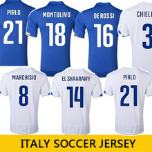 Free Shipping 2014 world cup Italy Home Away Soccer Jerseys BALOTELLI Italia PIRLO CHIELLINI Thai Quality Italy Soccer Shirts(China (Mainland))