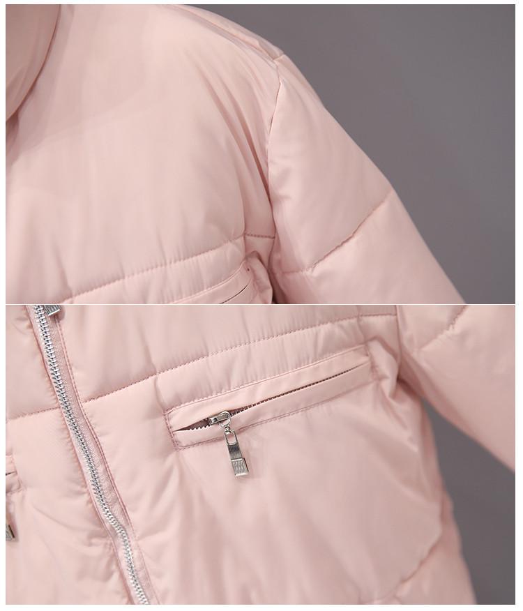 Скидки на Женщины хлопка-ватник 2016 вскользь тонкие короткие куртки зимние женские плюс размер парки femme длинным рукавом толстая верхняя одежда mujer