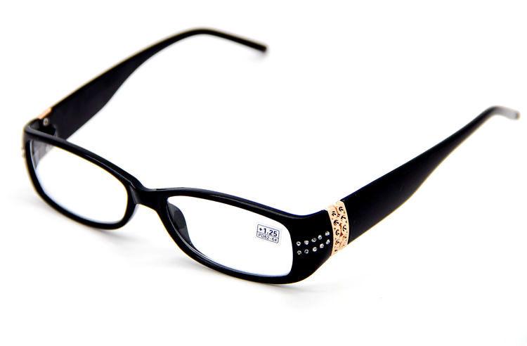 Black Frame Designer Glasses : Womens Reading Glasses Black Frame Design Cute Readers ...
