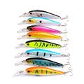 8pcs lot Minnow Fishing Lures 8 Colors 10cm 9 4g Hard Bait Crankbait Sinking 3D Eyes