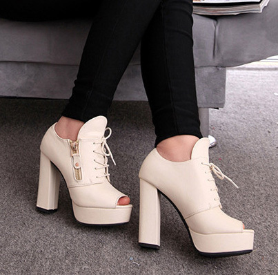 fish mouth high-heeled shoes lighter waterproof table fine ultra-high women's - Alimi Marr's store