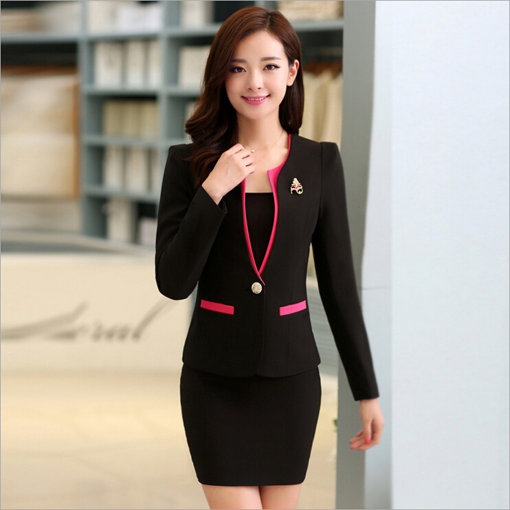 red blazer women suits with skirt and jacket sets ladies office suits