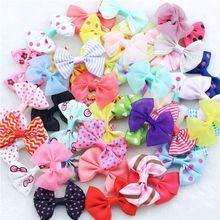 """10 pz/lotto 2 """"neonate hairbows del nastro di colore della caramella dot stampa filato neve multi stili arco tornante clip di capelli dei bambini accessori per capelli  (China (Mainland))"""