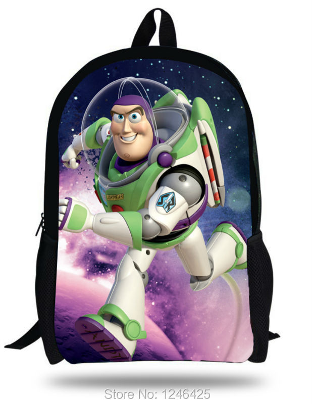 16-inch Mochila Toy Story Bag Buzz Lightyear Backpacks Children School Bags For Boys Age 7-13 3D Cartoon Bags Gift(China (Mainland))