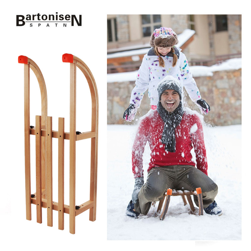Hot Sale Winter Snow Wood Sled Foldable Snow Sleds Snowboard With Beech sleigh for snow skiing board XQ24(China (Mainland))