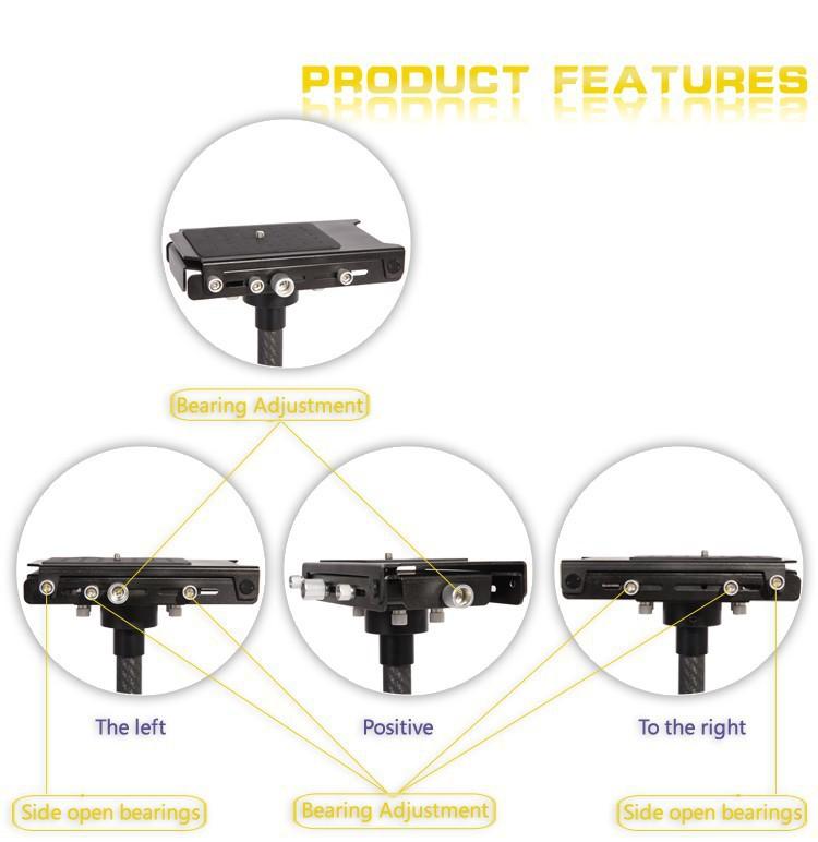 Hpusn video camera dsrl stabilizer Carbon Fiber Handheld Steadicam Stabilizer Single arm Steadicam Camera Sled for canon
