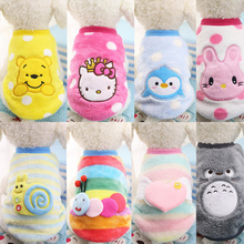 Buy Winter Cartoon Puppy Vest Clothing Soft Warm Flannel Dog Clothes Small Medium Large Dog Cat Pet Coat XS-XXL for $1.22 in AliExpress store