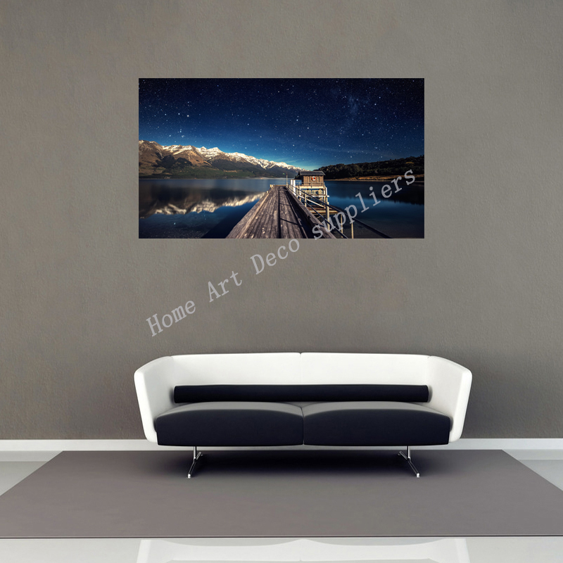 Modern House And Home Decoration Water Sky Natural Landscape Photo Poster Wallpaper Waterproof