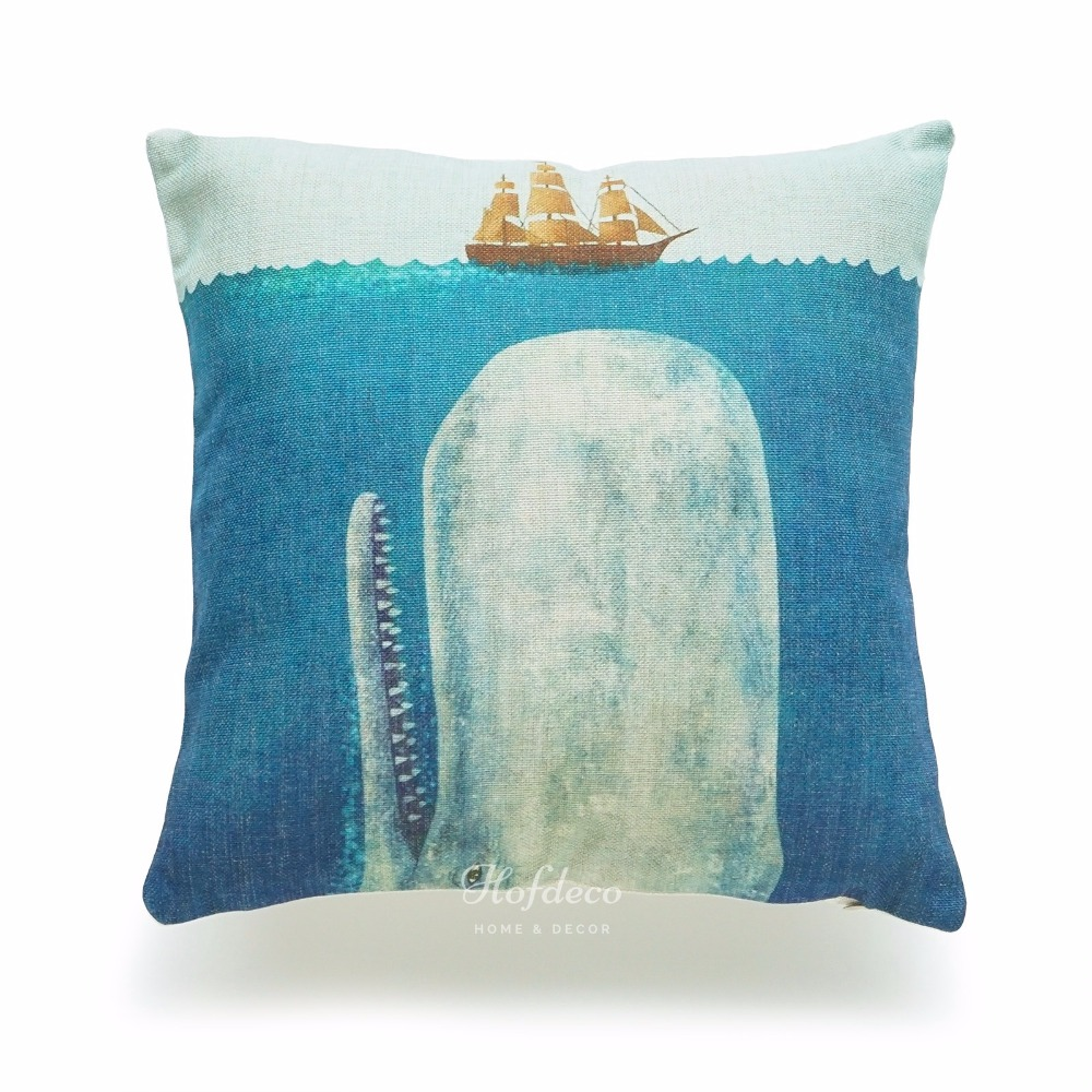 Popular Nautical Chair Covers Buy Cheap Nautical Chair  : Decorative Throw Pillow Case White Whale Moby Dick Ship Sea font b Nautical b font Cotton from www.aliexpress.com size 1000 x 1000 jpeg 235kB