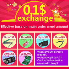 0.1$ exchange gift, after your order amount achieve the request.Freight is free(China (Mainland))
