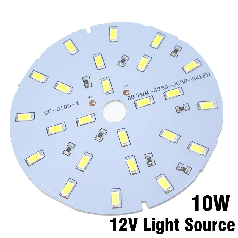 30pcs 10W 12V LED PCB SMD 5730 Lamp Plate Integrated IC DC12V Directly Driverless White/Warm White For LEB Bulbs(China (Mainland))
