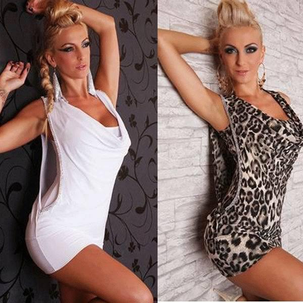 lover's night: free shipping Sexy White Mini Dress Rhinestone Wet Look Club Dress 2 colors 10S2163 Clubbing dress sexy clubwear(China (Mainland))