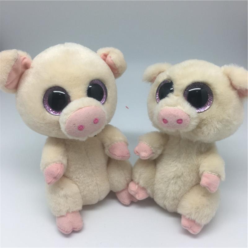 Big Eyes Cute Pig Beanie Boos Colorful Push dolls Stuffed Plush Dolls Pig Kawaii Cute Pig as Birthday Gifts Toys For Children(China (Mainland))