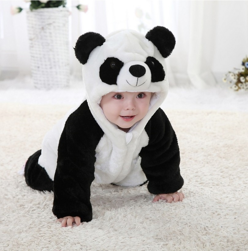 Hot sale Baby romper Panda jumpsuit Kids clothes newborn conjoined creeper cute Baby Costume dress outfit<br><br>Aliexpress