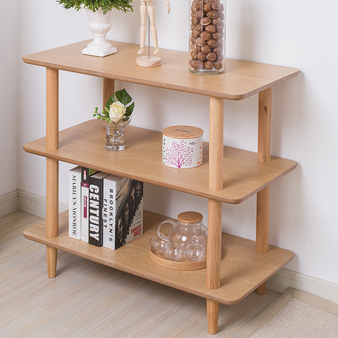 Simple/ modern/storage rack/tiered stand/solid wood /white oak furniture/The living room storage rack(China (Mainland))