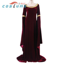 The Lord of the Rings Arwen's Cranberry Gown Dress.