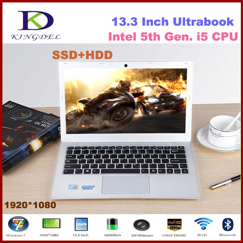 Core i5 Ultrabook Laptop Computer Notebook with 8GB RAM & 128GB SSD+1TB HDD Wifi HDMI Bluetooth Windows 8.1 Aluminum Alloy Case(Hong Kong)