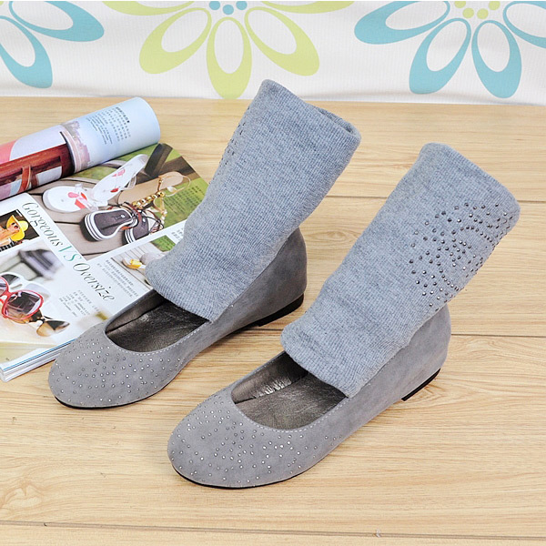 2015 summer new office lady fashion mid-calf  women boots flat heels women boots Comfortable and breathable women shoesE2805<br><br>Aliexpress