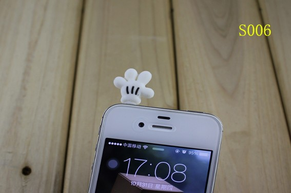 cartoon lovely DP-S006 3.5mm universal dust Plug Earphone Jack Headset Stopper Cap iphone 5S/Samsung/htc - r's store