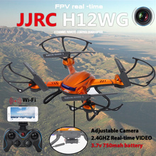 JJRC-H12W 6-Axis Gyro 2.4G 4CH Real-time Images Return RC FPV Quadcopter drone wifi with HD Camera One-press Return