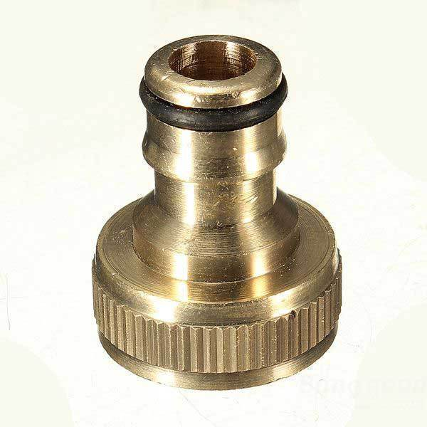 Chilitoco 3 4 brass threaded garden hose water tap fittings solide connector(China (Mainland))
