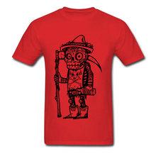 おかしい死日 Tシャツメンズ Tシャツスカル Tシャツメキシコスタイルコットントップススチームパンク Tシャツ死神(China)