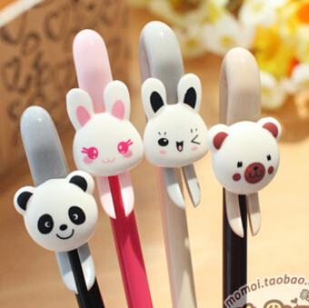 Baisoo stationery supplies cute bunny black gel pens for office writing 0.38mm 24pcs/set Oulm wholesale artigos papelaria stylo<br><br>Aliexpress