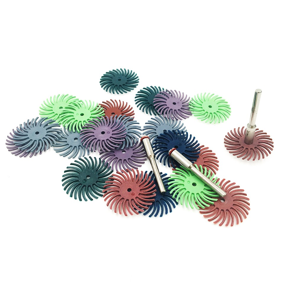 20pcs Rotary Tool Accessories For Dremel Radial Brush Abrasive Tools Mini Grinding Wheels Drill Bit For Dremel Electric Drill