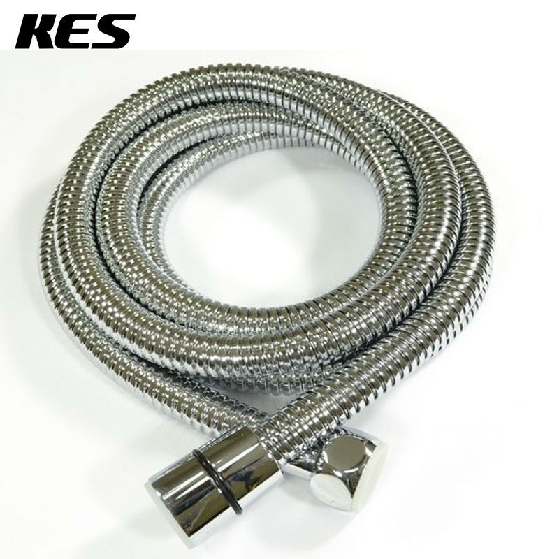 KES 118-Inch (3-Meter) Replacement Shower Hose Stainless Steel & EPDM Extra Long Metal Interlock Pressure Tube Polished Chrome(China (Mainland))