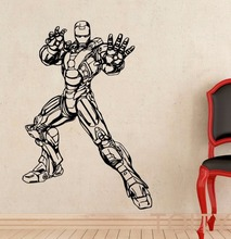 Iron Man Sticker DC Marvel Comics Movie Poster Wall Art Superhero Vinyl Decal Dorm Home Interior Decoration Teen Room Cool Mural(China (Mainland))