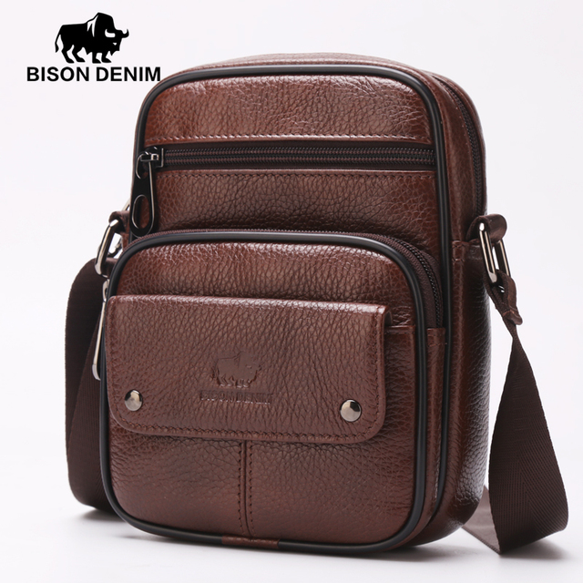 Бизон джинсовой марки сумки мужские малый размер большой мощности мужчины сумка из ...