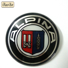 1 PCS capot de voiture emblème 82 MM aluminium 2 Pins LOGO avant ou arriere coffre BADGE symbole ROUNDEL pour Alpina voiture LOGO
