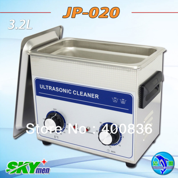 Free shipping! 3.2L- ultrasonic cleaner JP-020(SUS304 tank with basket)(China (Mainland))