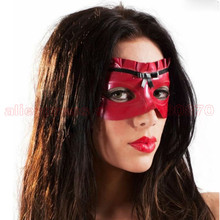 Buy Sexy  Fashion Latex Lace Mask Masquerade Blinder Rubber Latex Eyepatch  Back Tie Straps  LM080