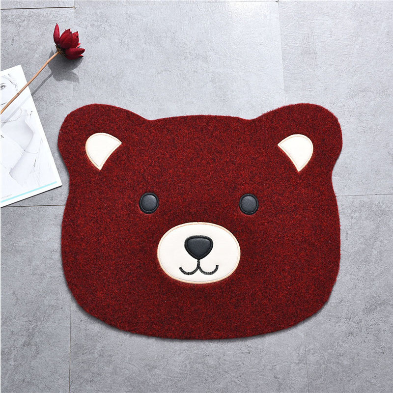 Cute cartoon character Winnie China bathroom mat doormat rub your feet pad soil Tong living room kitchen rug(China (Mainland))