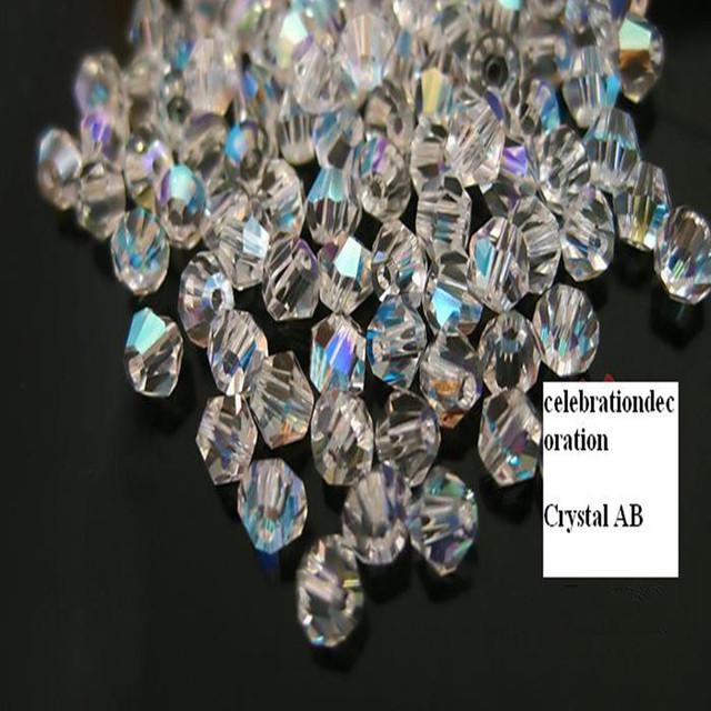 288 шт. много 6 мм 4 мм 8 мм кристалл белый AB 5301 Bicone бусины для ожерелье браслет ...